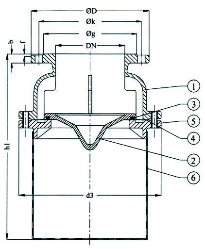 ГК ИНМОР | Клапан невозвратно-приемный PN 16 Рис.09-017